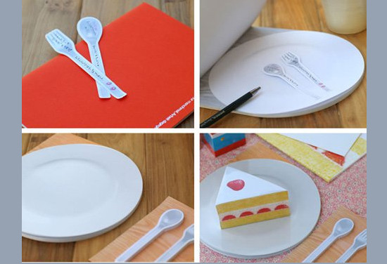 Spoon and Fork Sticky Notes