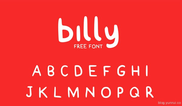 Billy Free Typeface by Claire Joines in 40+ Fresh and Free Fonts for May 2014