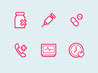 Health Icons by Marc Clancy in 40+ Fresh and Flat Icon Sets for May 2014