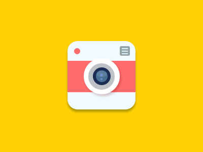 Flat Camera Icon by Dan Vineyard in 40+ Fresh and Flat Icon Sets for May 2014