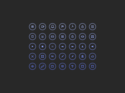 Cir Cu Lar Icons by John Cafazza in 40+ Fresh and Flat Icon Sets for May 2014