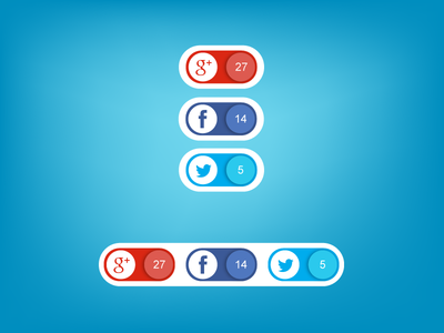 Social Buttons by Evgeniy Loktev in 40+ Fresh and Flat Icon Sets for May 2014