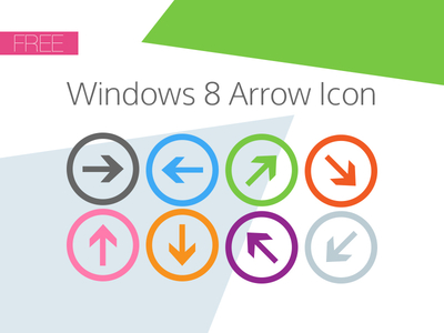 Windows 8 Arrow Icons by Joe Taylor in 40+ Fresh and Flat Icon Sets for May 2014