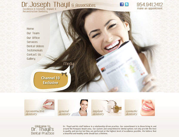 Medical Website Design - Dr. Joseph Thayil