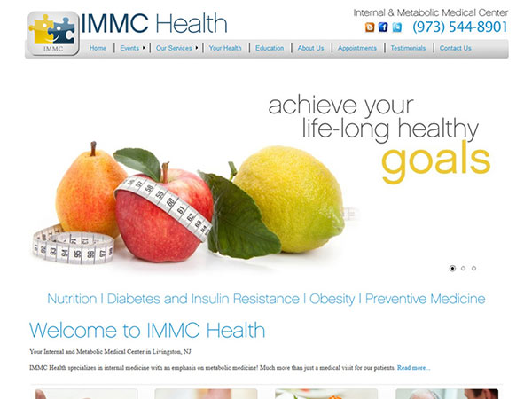 Medical Website Design - IMMC Health