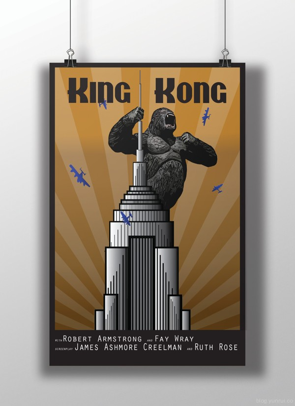 King Kong Poster by Crystal Colson in Showcase of Minimal Movie Posters #7