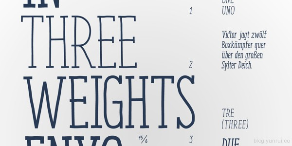 Enyo Free Font by Julia Martinez Diana in 40+ Fresh and Free Fonts for May 2014