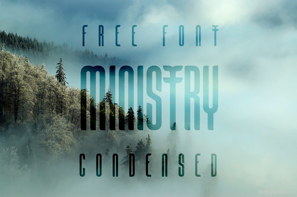 Ministry Free Font by Victor Tognollo in 40+ Fresh and Free Fonts for May 2014