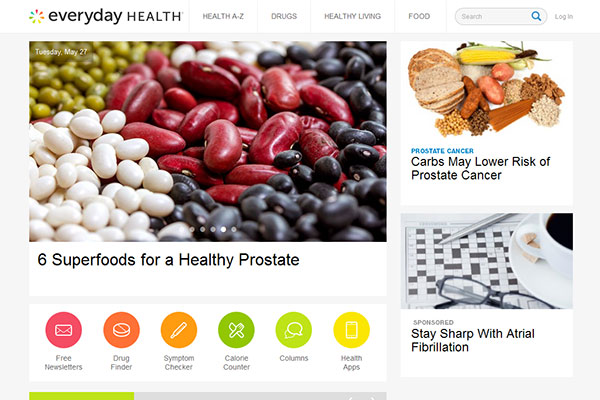 Medical Website Design - Everyday Health