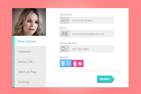 Creative Web Design Widget PSD Designs