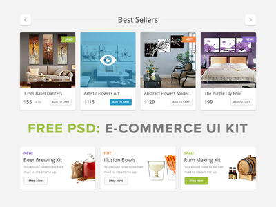 Lucky Store UI Free by PixelBuddha in 35+ Free UI Kits for Web Designers