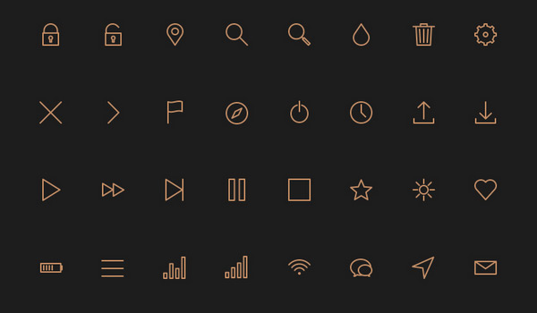 Free 80 Crispy Icons in PSD, AI, SVG & Webfont by Petras Nargėla in 40+ Fresh and Flat Icon Sets for May 2014