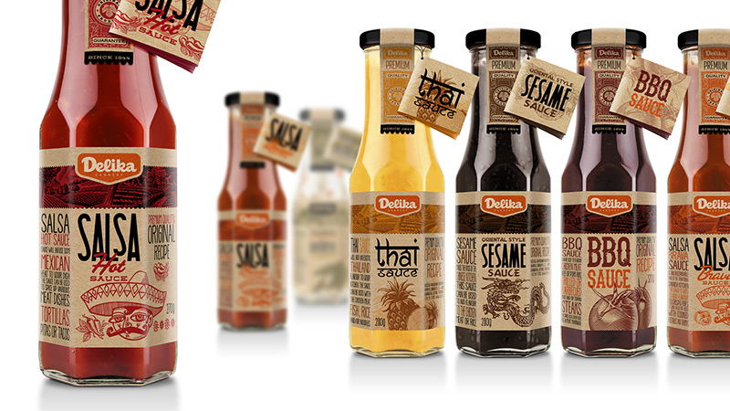 DELIKA Sauces  by CREATIVE TRADE MARK in Package Design Inspiration for May 2014