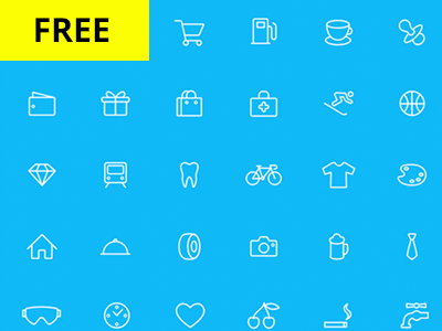 66 Line Icon Set by Viktor Kozyriev in 40+ Fresh and Flat Icon Sets for May 2014
