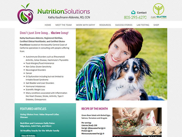 Medical Website Design - Nutrition Solutions