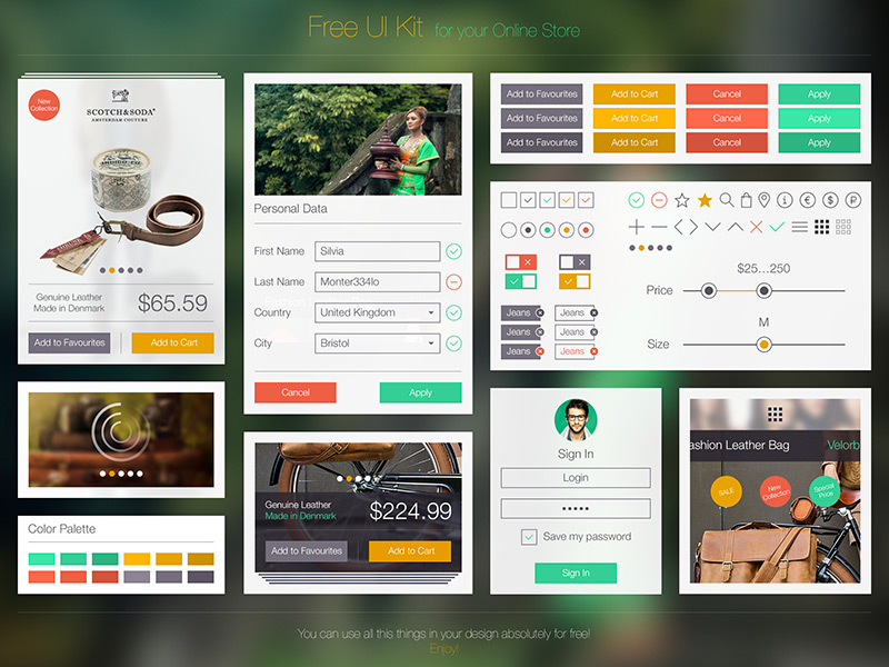 Free UI Kit by Ramotion in 35+ Free UI Kits for Web Designers