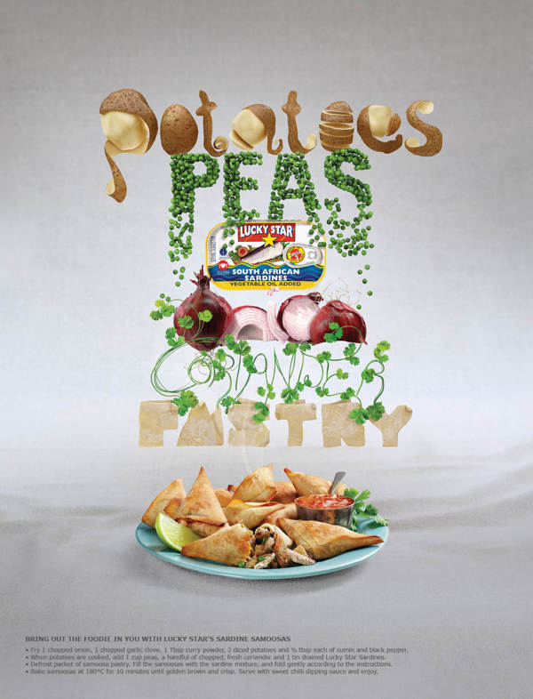 Lucky Star Foodie Campaign by Spencer Holmes in Showcase of Fresh & Creative Typography Projects