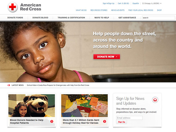 Medical Website Design - American Red Cross