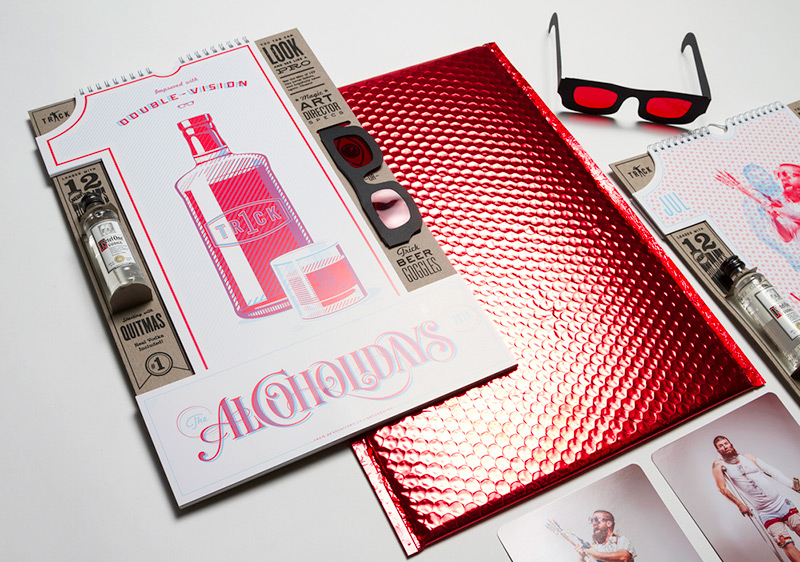 Alcoholidays Calendar 2014 by 1 Trick Pony in Package Design Inspiration for May 2014