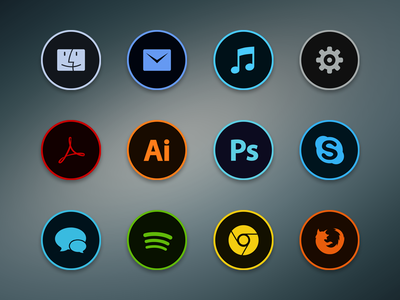 Circla Dock Icons Freebie by Luís Nunes in 40+ Fresh and Flat Icon Sets for May 2014