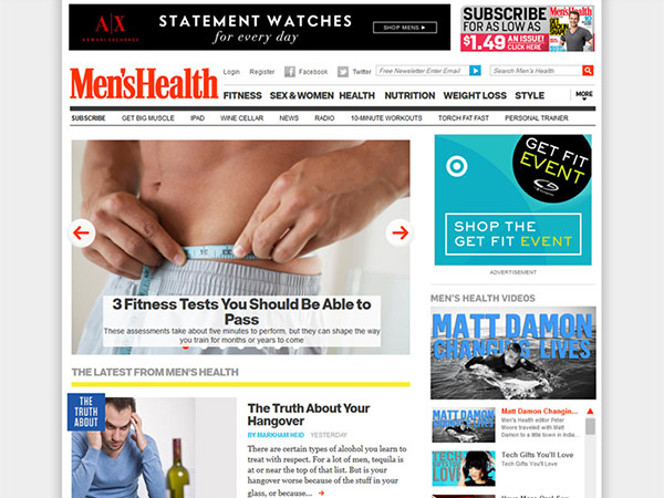 Medical Website Design - Men's Health