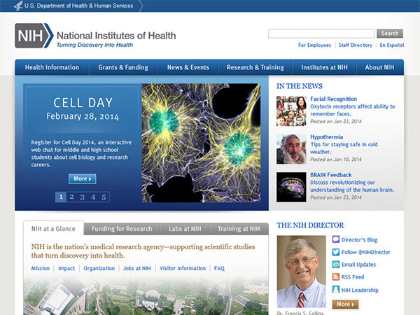Medical Website Design - NIH