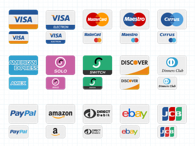 Payment Method Icons by Elena Genova in 40+ Fresh and Flat Icon Sets for May 2014