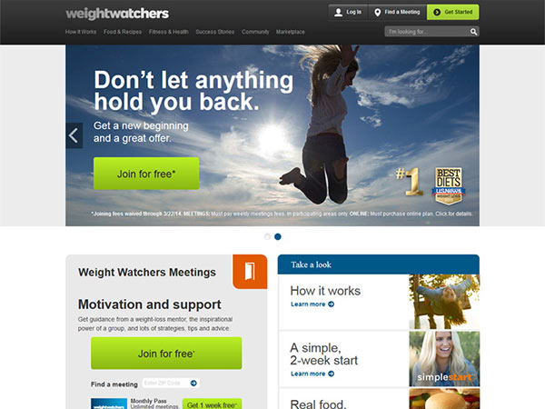 Medical Website Design - Weight Watchers