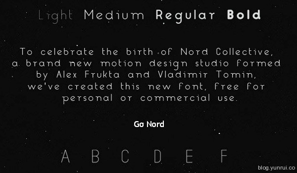 Nord Free Font by Alex Frukta in 40+ Fresh and Free Fonts for May 2014