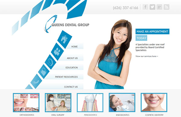 Medical Website Design - Queens Dental Group