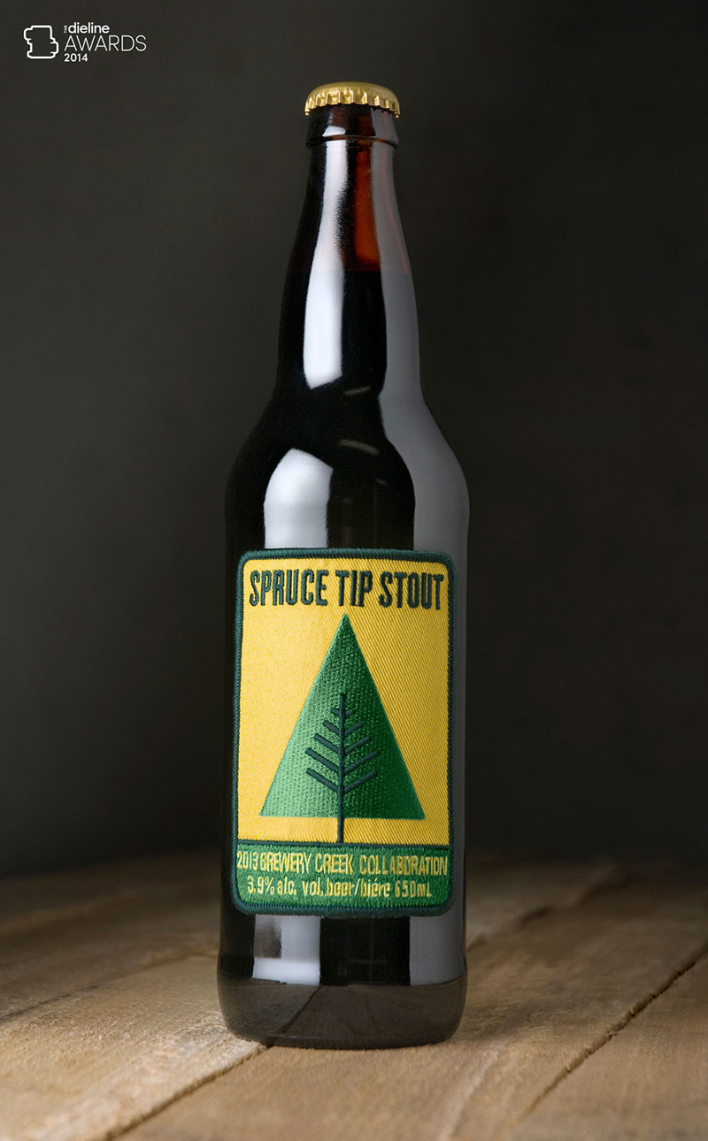 Spruce Tip Stout in Package Design Inspiration for May 2014