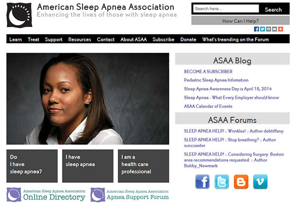 Medical Website Design - American Sleep Apnea Association