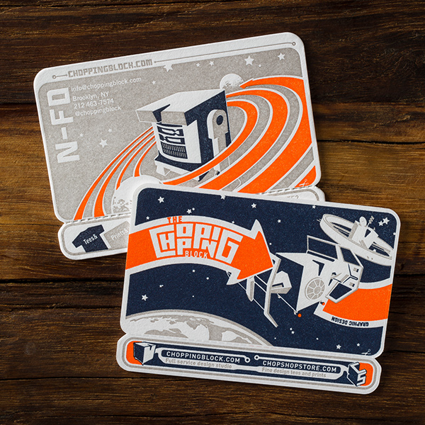 Letterpress 'Robots' Business Cards by The Chopping Block, Inc. in 35+ Creative Business Cards