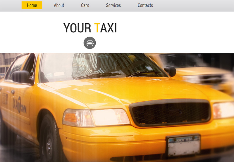 Taxi in 35 Free and Flat PSD Web Templates