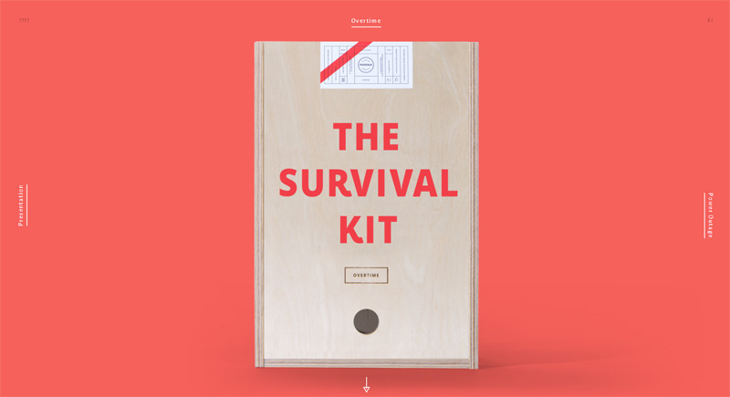 Agency Survival Kit in Web Design Inspiration: Swiss Style