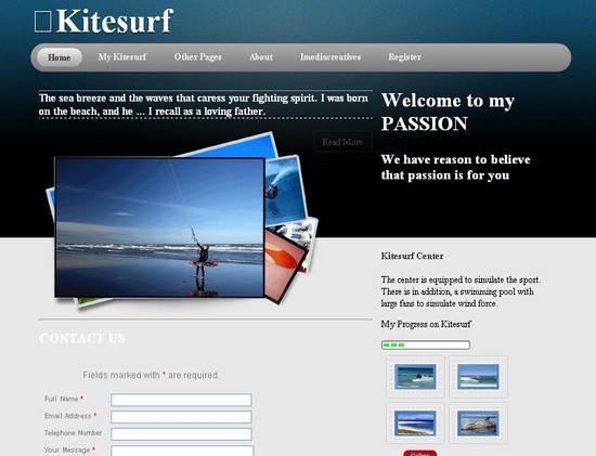 KiteSurf HTML5 and CSS3 Template