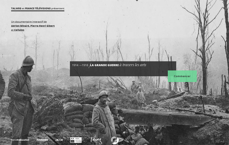 Le grande guerre a travels les arts in Web Design Inspiration: Swiss Style