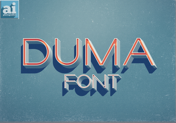 Duma Free Font by Ish Adames in 27 Fresh and Free Fonts for June 2014