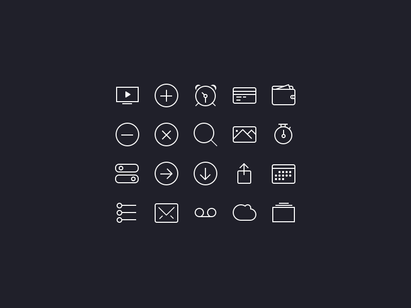 iCons iOS7 by Anton Skugarov in 26 Free and Flat Icon Sets