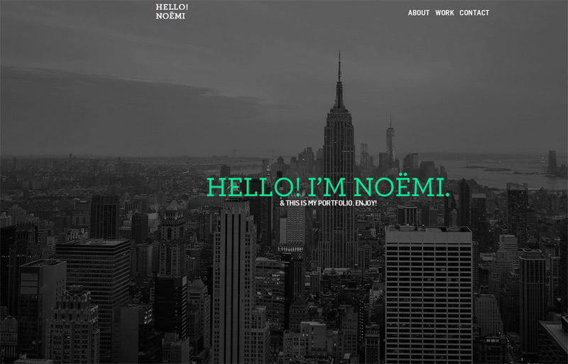 Hello Noemi in 33 New Websites with Clean and Minimalist Design