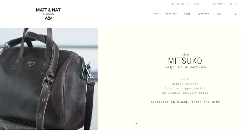 Matt & Nat in 33 New Websites with Clean and Minimalist Design