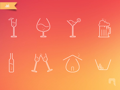 Free Bar Icons by Neelakandan in 26 Free and Flat Icon Sets