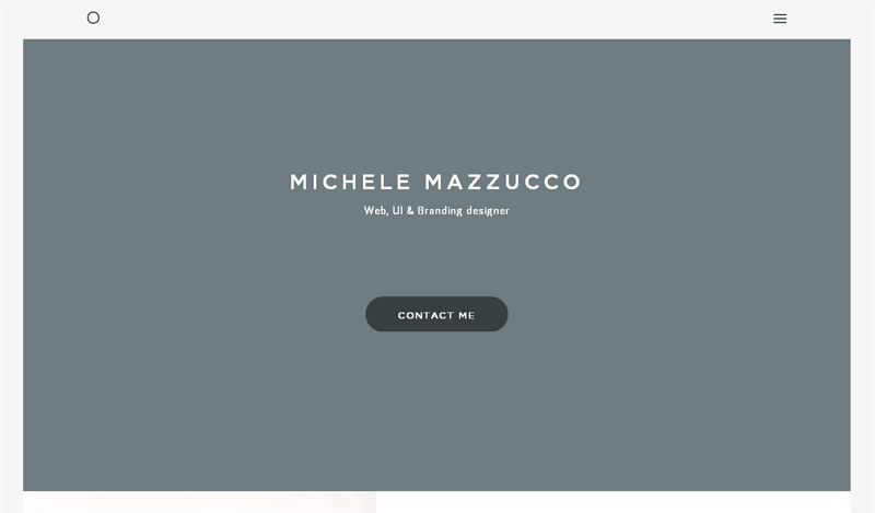 Michele Mazzucco in 33 New Websites with Clean and Minimalist Design