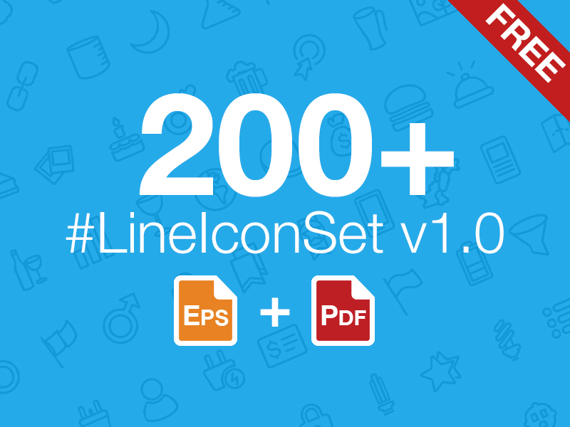 200+ LineIconSet v1.0 by Abdullah Bin Laique in 26 Free and Flat Icon Sets