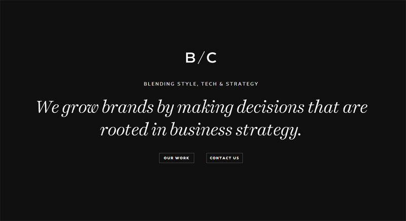 BC Designers in 33 New Websites with Clean and Minimalist Design