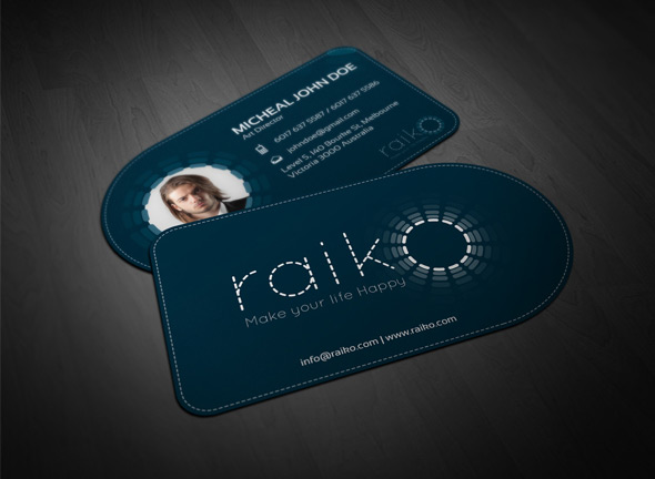 Di-cut Business Card Template by Zakir Ali in 35+ Creative Business Cards