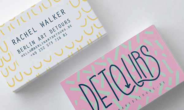 DeTOURS by Markela Bgiala in 35+ Creative Business Cards