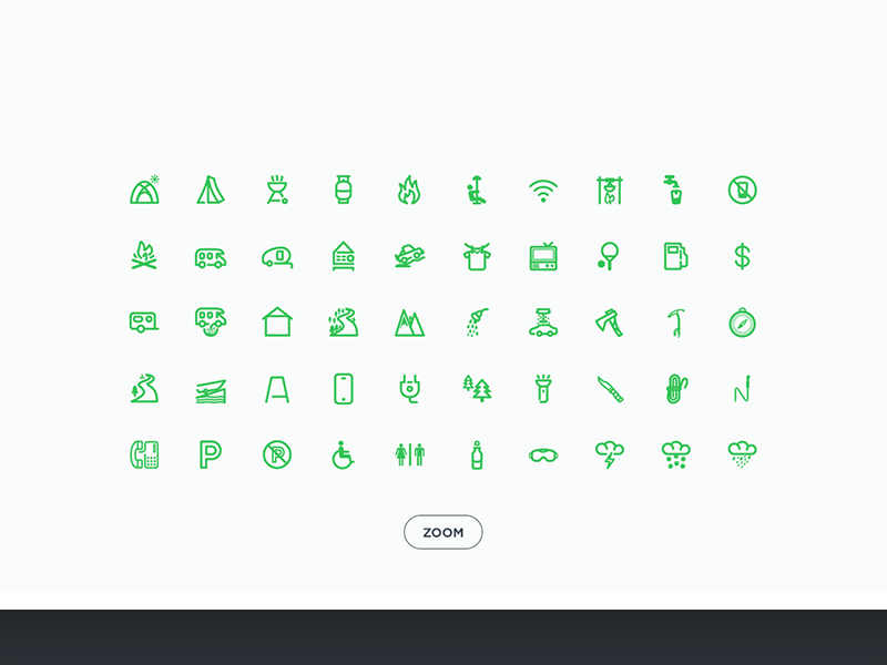Camping icons by Chirag D in 26 Free and Flat Icon Sets
