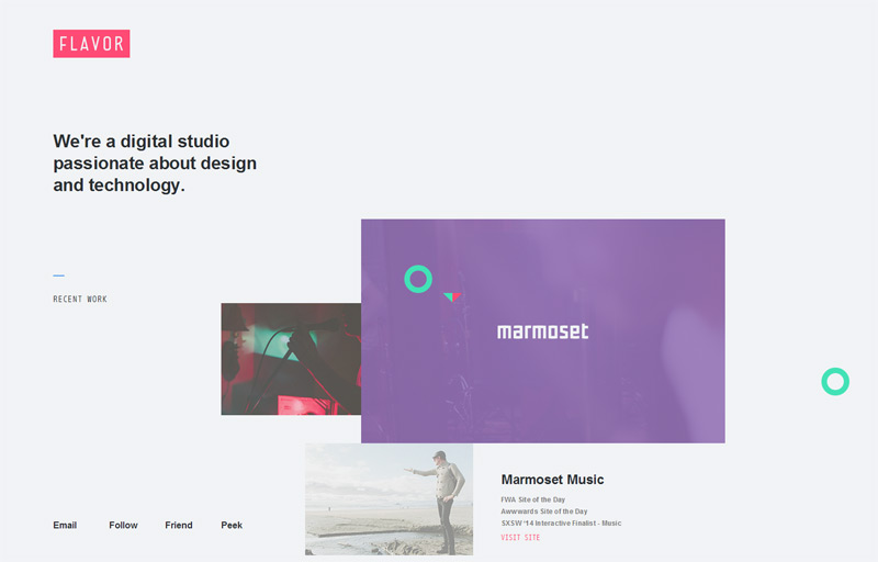 Flavor in 33 New Websites with Clean and Minimalist Design