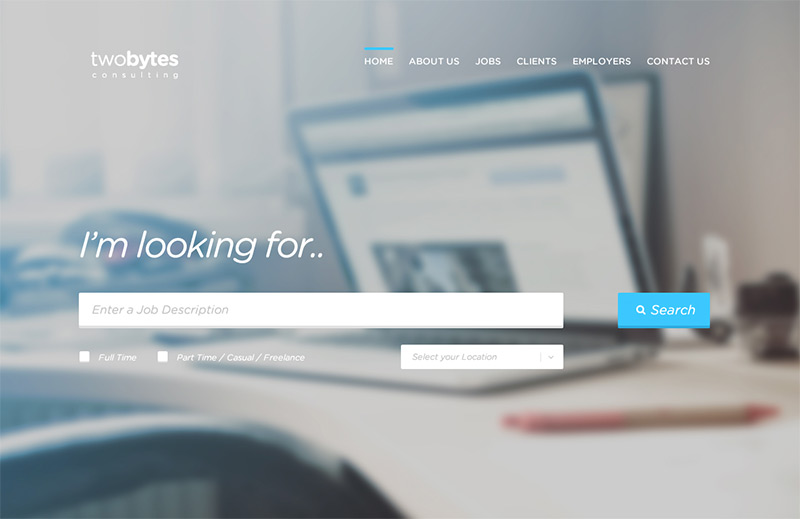 TwoBytes in 35 Free and Flat PSD Web Templates